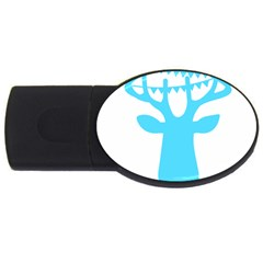 Party Deer With Bunting Usb Flash Drive Oval (2 Gb)