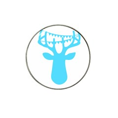 Party Deer With Bunting Hat Clip Ball Marker (10 Pack)