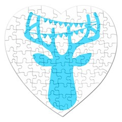 Party Deer With Bunting Jigsaw Puzzle (Heart)