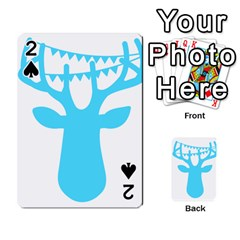 Party Deer With Bunting Playing Cards 54 Designs