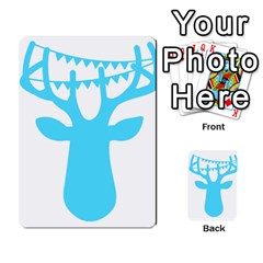 Party Deer With Bunting Multi Purpose Cards (rectangle)