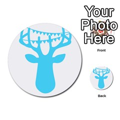 Party Deer With Bunting Multi Purpose Cards (round)