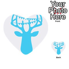Party Deer With Bunting Multi Purpose Cards (heart)