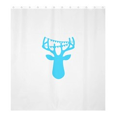 Party Deer With Bunting Shower Curtain 66  x 72  (Large)