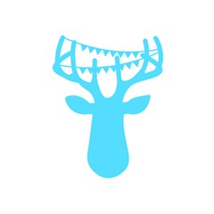 Party Deer With Bunting 5.5  x 8.5  Notebooks