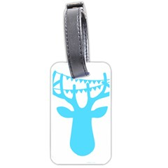 Party Deer With Bunting Luggage Tags (Two Sides)