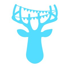 Party Deer With Bunting Magic Photo Cubes