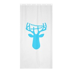 Party Deer With Bunting Shower Curtain 36  x 72  (Stall)
