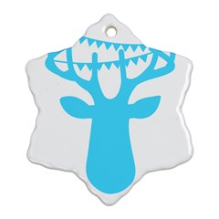 Party Deer With Bunting Snowflake Ornament (2-Side)