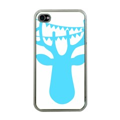 Party Deer With Bunting Apple iPhone 4 Case (Clear)