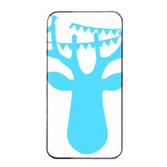 Party Deer With Bunting Apple iPhone 4/4s Seamless Case (Black)