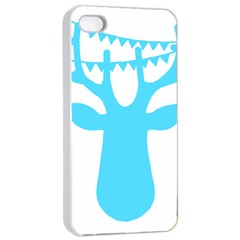 Party Deer With Bunting Apple iPhone 4/4s Seamless Case (White)