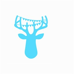 Party Deer With Bunting Small Garden Flag (Two Sides)