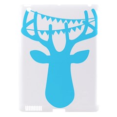Party Deer With Bunting Apple iPad 3/4 Hardshell Case (Compatible with Smart Cover)