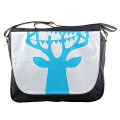 Party Deer With Bunting Messenger Bags
