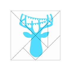 Party Deer With Bunting Acrylic Tangram Puzzle (4  x 4 )