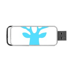 Party Deer With Bunting Portable USB Flash (Two Sides)