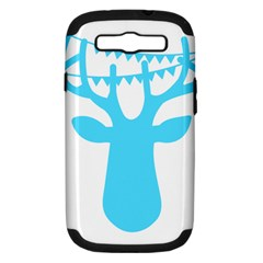 Party Deer With Bunting Samsung Galaxy S III Hardshell Case (PC+Silicone)