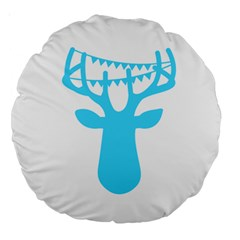 Party Deer With Bunting Large 18  Premium Round Cushions