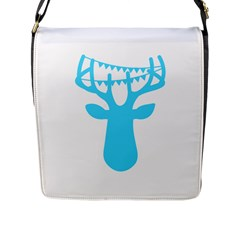 Party Deer With Bunting Flap Messenger Bag (L)