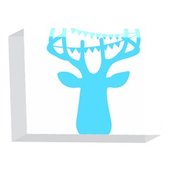 Party Deer With Bunting 5 x 7  Acrylic Photo Blocks