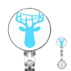 Party Deer With Bunting Stainless Steel Nurses Watches