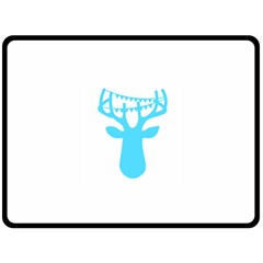Party Deer With Bunting Double Sided Fleece Blanket (large)