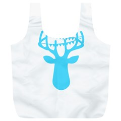 Party Deer With Bunting Full Print Recycle Bags (L)