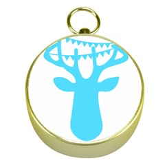 Party Deer With Bunting Gold Compasses