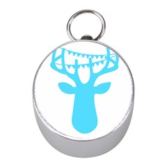 Party Deer With Bunting Mini Silver Compasses