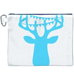 Party Deer With Bunting Canvas Cosmetic Bag (XXXL)
