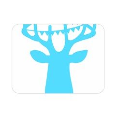 Party Deer With Bunting Double Sided Flano Blanket (Mini)