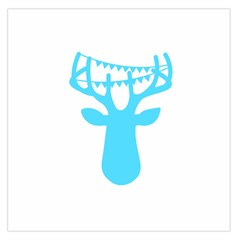 Party Deer With Bunting Large Satin Scarf (Square)