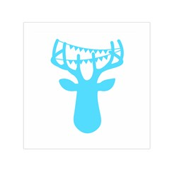 Party Deer With Bunting Small Satin Scarf (Square)