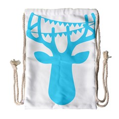 Party Deer With Bunting Drawstring Bag (Large)