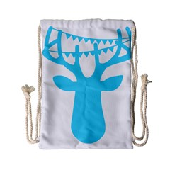 Party Deer With Bunting Drawstring Bag (Small)