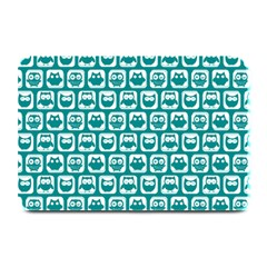 Teal And White Owl Pattern Plate Mats