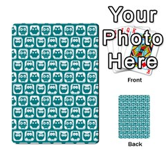 Teal And White Owl Pattern Multi-purpose Cards (Rectangle)