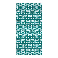 Teal And White Owl Pattern Shower Curtain 36  x 72  (Stall)