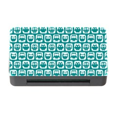 Teal And White Owl Pattern Memory Card Reader with CF