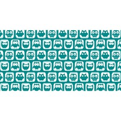 Teal And White Owl Pattern YOU ARE INVITED 3D Greeting Card (8x4)