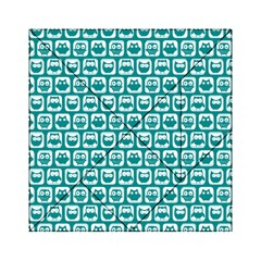 Teal And White Owl Pattern Acrylic Tangram Puzzle (6  X 6 )