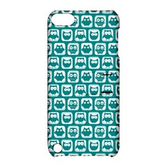 Teal And White Owl Pattern Apple iPod Touch 5 Hardshell Case with Stand
