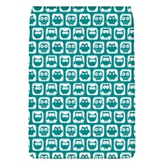 Teal And White Owl Pattern Flap Covers (L)