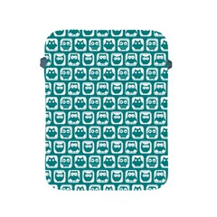 Teal And White Owl Pattern Apple iPad 2/3/4 Protective Soft Cases