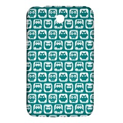 Teal And White Owl Pattern Samsung Galaxy Tab 3 (7 ) P3200 Hardshell Case