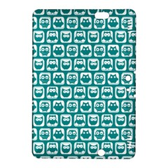 Teal And White Owl Pattern Kindle Fire HDX 8.9  Hardshell Case