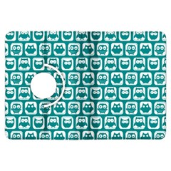 Teal And White Owl Pattern Kindle Fire HDX Flip 360 Case