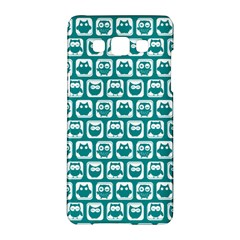 Teal And White Owl Pattern Samsung Galaxy A5 Hardshell Case