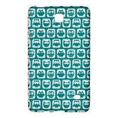 Teal And White Owl Pattern Samsung Galaxy Tab 4 (8 ) Hardshell Case